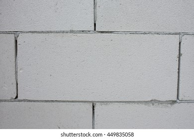 Raw AAC autoclaved aerated concrete wall closeup