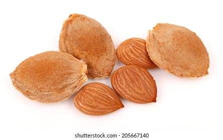 Raw Almonds ,Isolated on white