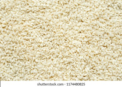 Raw arabic rice background, texture.