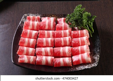 Raw beef slice for hot pot,chinese food