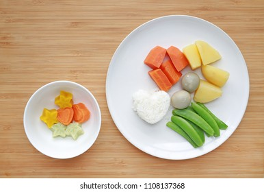 Frozen peas in a bowl images stock photos vectors shutterstock raw of boiled vegetables baby food carrot egg potato rice and sweet forumfinder Gallery