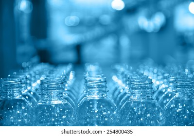 raw of bottle