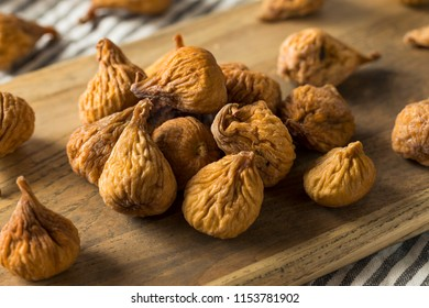 Raw Brown Dried Figs Ready to Eat