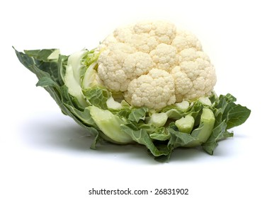 Raw cauliflower, isolated