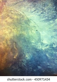 Raw cement floor vintage grunge texture style in colorful and cool tone background