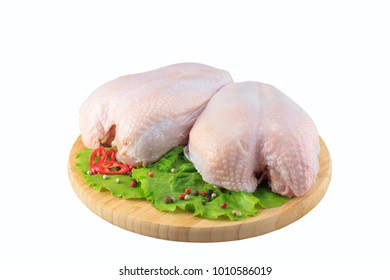 raw chicken Breasts on a white background