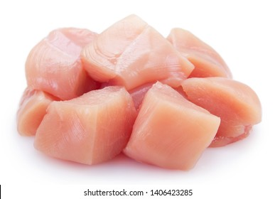 raw chicken fillet isolated on white background