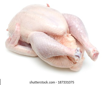 raw chicken isolated on white background