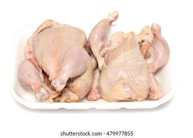 raw chicken isolated on white