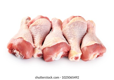 Raw chicken legs isolated on white background. With clipping path.