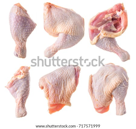 Raw Chicken Legs Isolated On White Stock Photo Edit Now 717571999