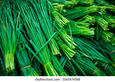 Raw chive background