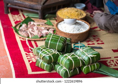 Raw Chung cake, the most important food of Vietnamese lunar new year Tet