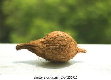 Raw cocunut with background-image