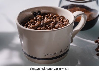 a raw Coffee Place Setting