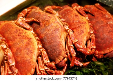 raw crabs in shop