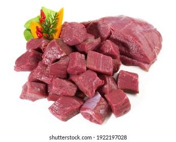 Raw Deer Ragout - Wild Game Meat