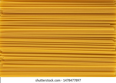 Raw dry spaghetti straight as background