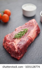 Raw entrecote meat