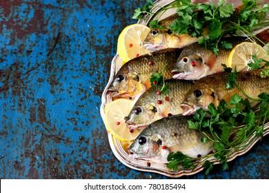 Raw fish tilapia