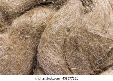 Raw flax as it is used in paper industry and for making linen cloth