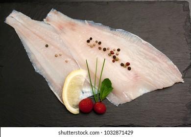 Raw Flounder fillet