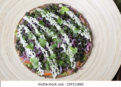 Raw food pizza images stock photos vectors shutterstock raw food pizza with vegetables on dried shortcakes vegan forumfinder Image collections