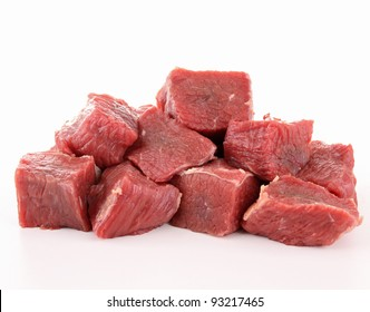 raw fresh beef cubes