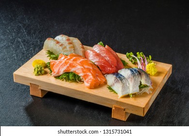 Japan of raw fresh fish fillet (sashimi)