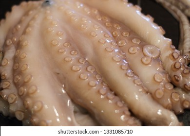 raw fresh octupus, seafood at home cooking, tasty ocen animal