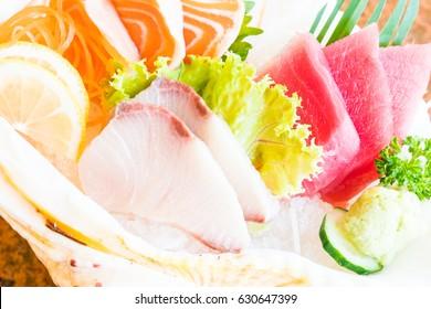 Raw and fresh sashimi set - Japan food style