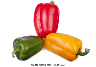 Raw and Fresh Vegetable Bell Pepper on white background
