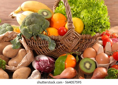 raw fruit and vegetable