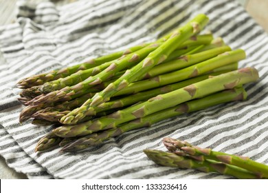 Raw Green Organic Asparagus Spears Ready to Cook
