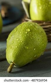 Raw Green Organic Danjou Pears Ready to Eat