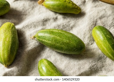 Raw Green Organic Indian Parval Squash Ready to Cook