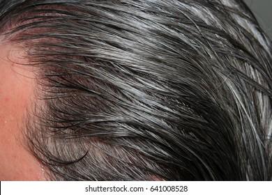 Raw grey hair men
