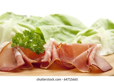 Raw ham with parsley