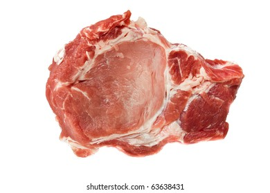 Raw juicy meat. Isolated on a white background