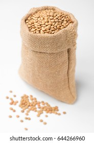 raw lentils on white, (large depth of field, taken with tilt shift lens)