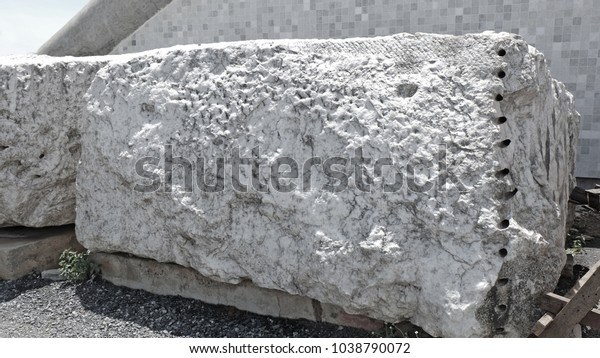 Raw Marble Rock Nature Stock Image