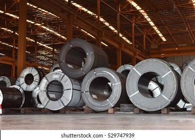 Raw material Handling: Steel coil storing inside warehouse