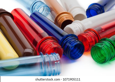 raw material for plastic bottle on white background