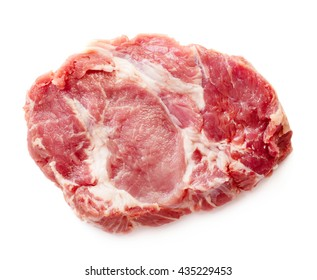Raw meat steak isolated on white background