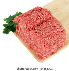 raw minced meat   on board