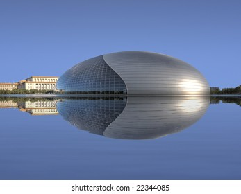 RAW -  National Grand Theatre (National Centre for the Performing Arts) with Reflection