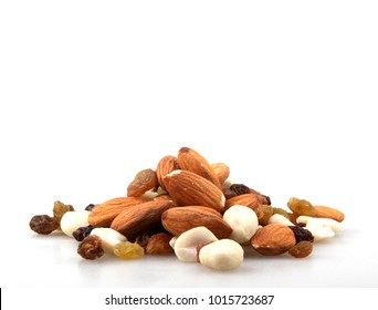 Raw nuts isolated