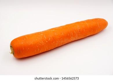 Raw orange carrot, a vegetable