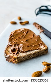 Raw Organic Almond Butter Cream with Bread