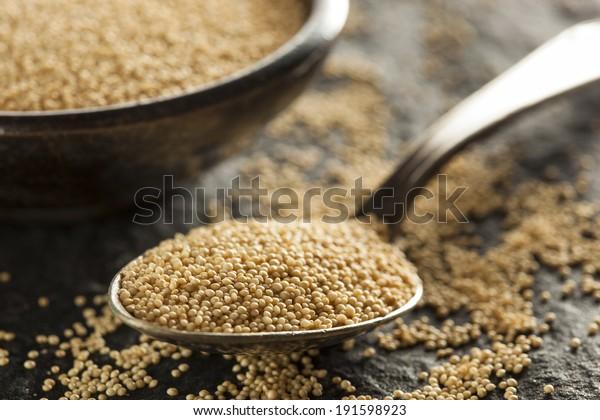 Raw Organic Amaranth Grain in a Bowl